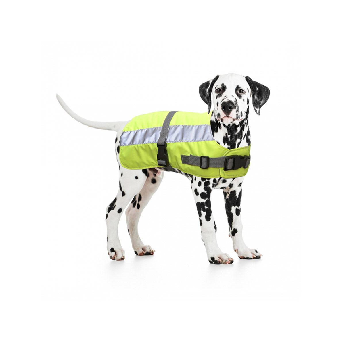 Duvo+ Flectalon Hi Vis Honden Jack Ruglengte 50 cm Geel - in Reflectie & Verlichting