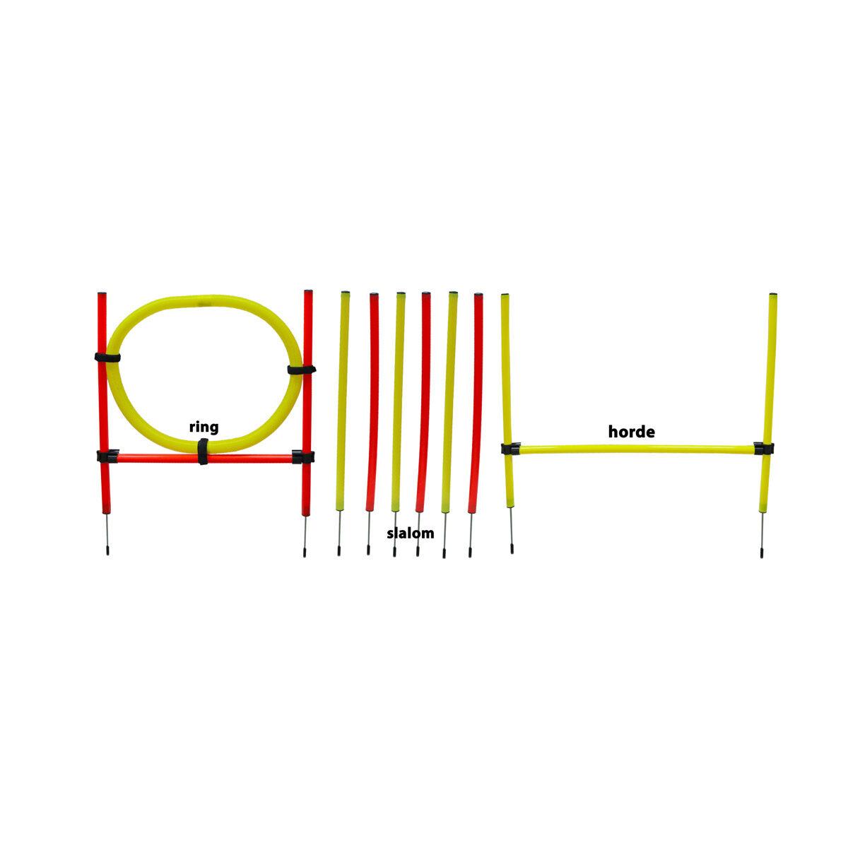 Agility Set Hond - 10x Stok 1x Springring en 1x Horde