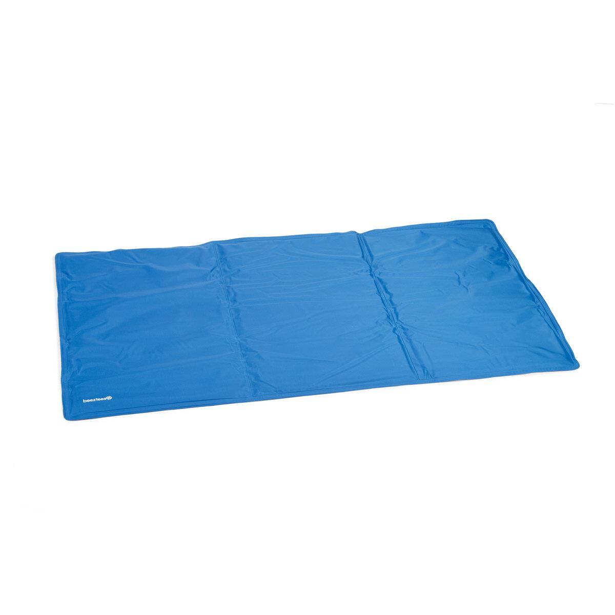 Beeztees Quick Cooler Koelmat Izi Hond Blauw 90x50 cm - in Hondenmanden & Hondenkussens