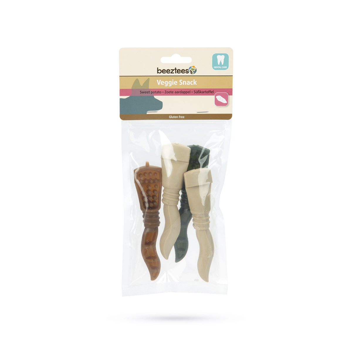 Beeztees Hondensnack Veggie Tandpasta Mix 4 x 13cm