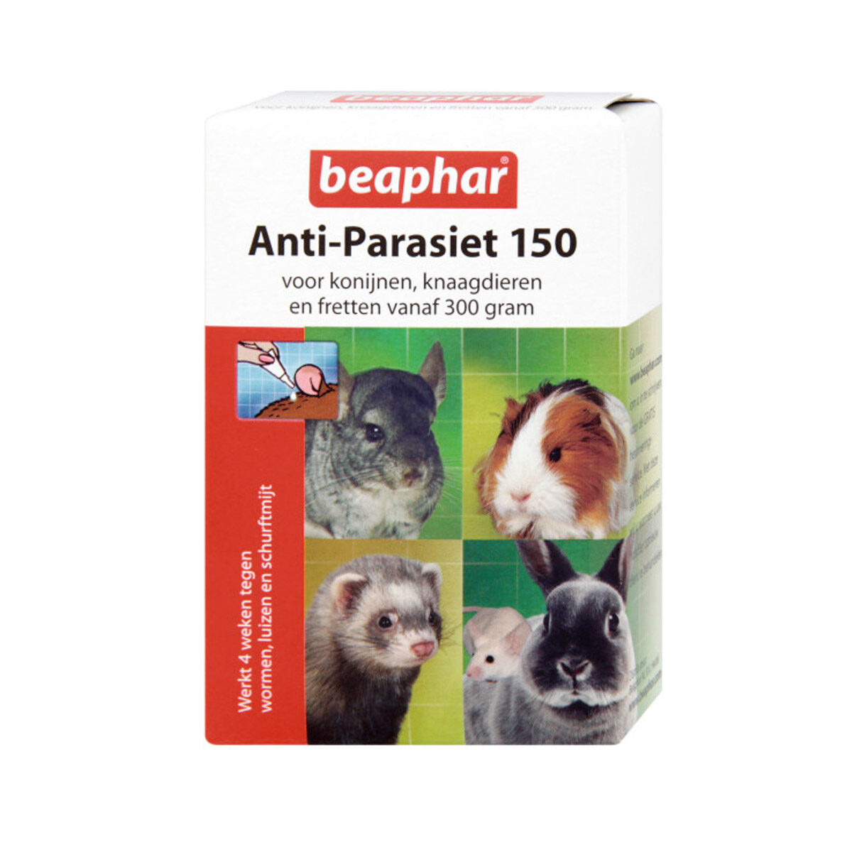 Beaphar Anti-Parasiet 150 Knaagdier 4 st