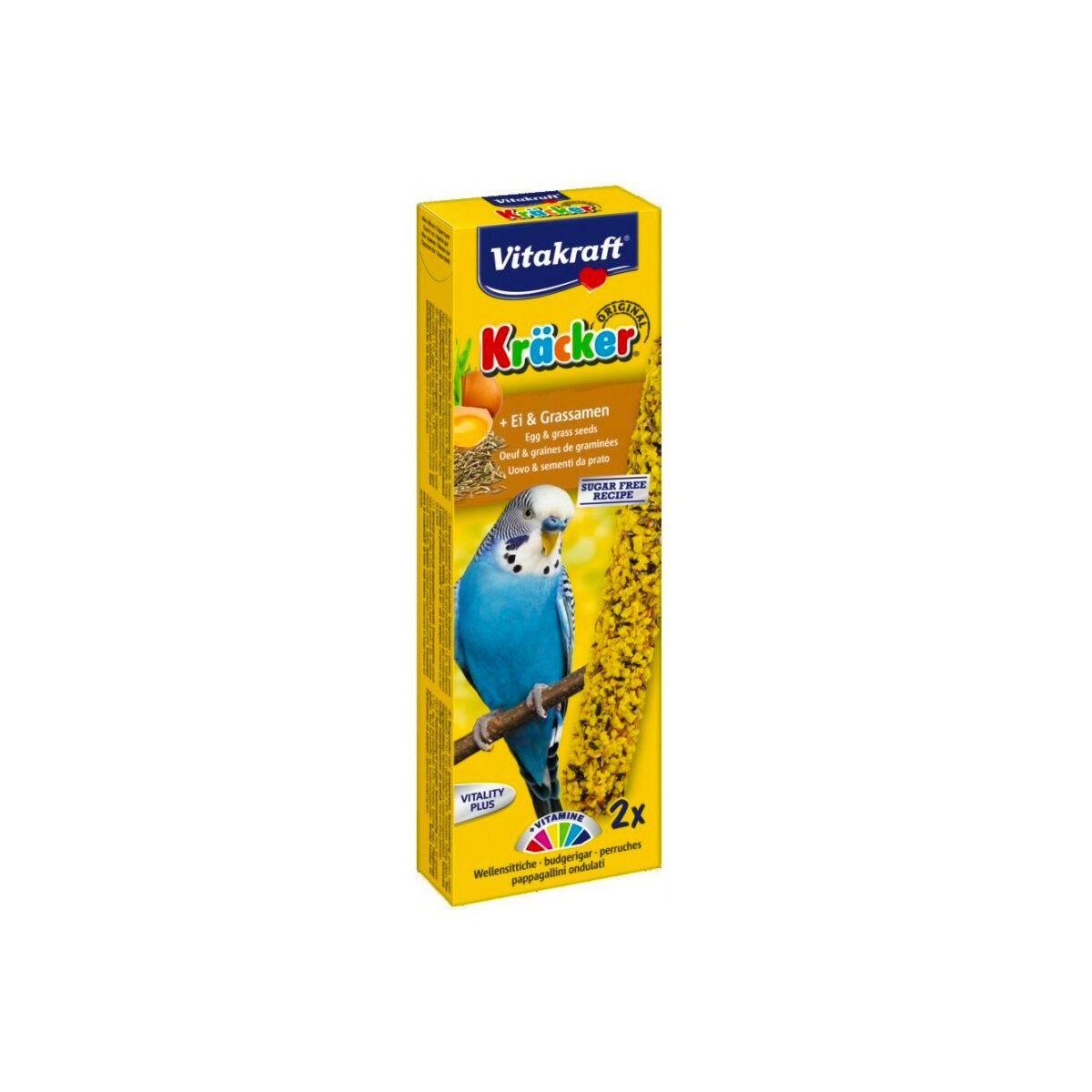 Vitakraft Kräcker Vogelsnack Parkiet 2In1 Ei Graszaad