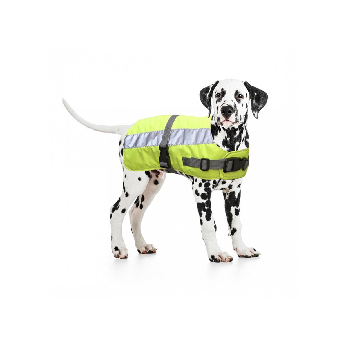 Duvo+ Flectalon Hi Vis Honden Jack Ruglengte 45 cm Geel - in Reflectie & Verlichting