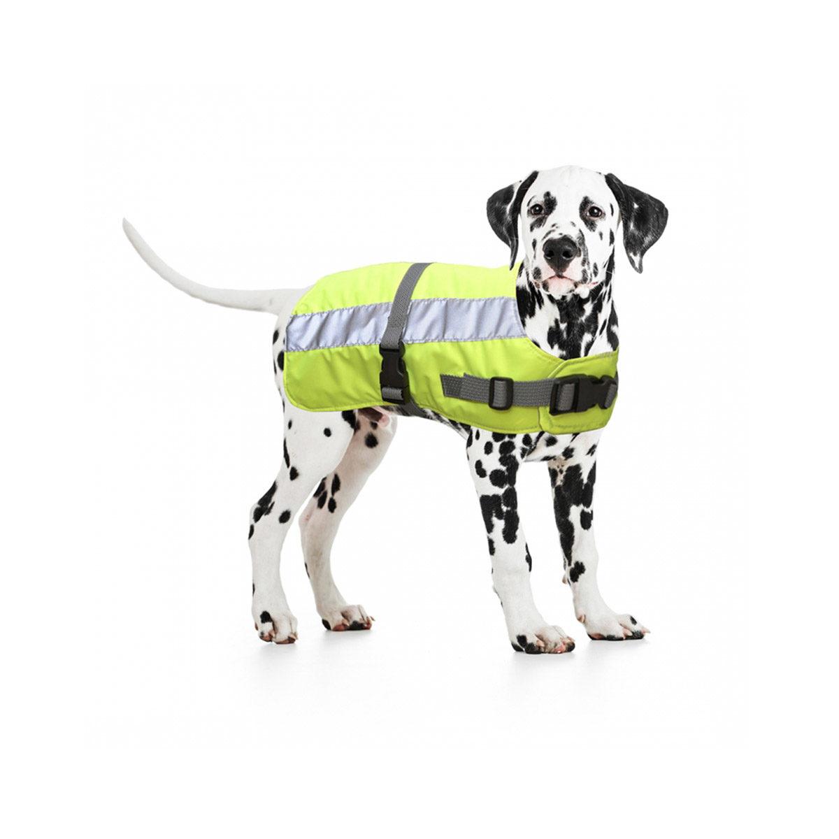 Duvo+ Flectalon Hi Vis Honden Jack Ruglengte 55 cm Geel - in Reflectie & Verlichting