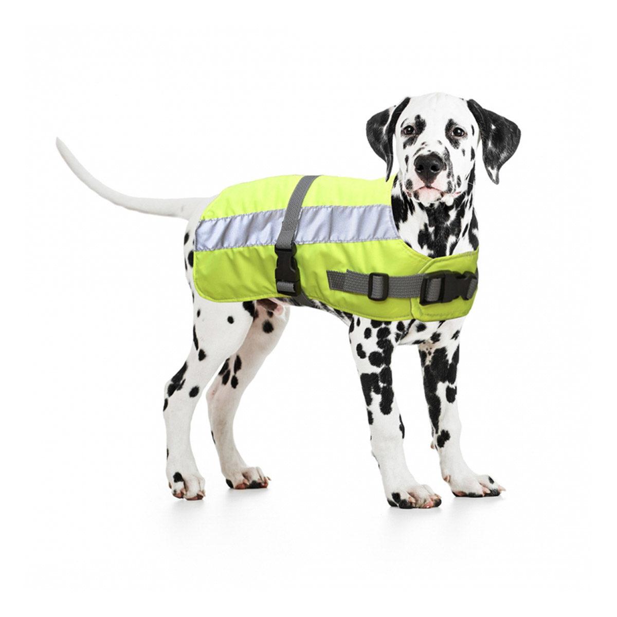 Duvo+ Flectalon Hi Vis Honden Jack Ruglengte 70 cm Geel - in Reflectie & Verlichting
