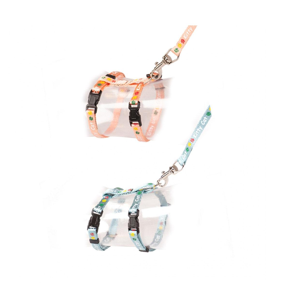 Duvo+ Kitten Wandelset Kitty Cat 15-25cm - 8mm-125cm Gemengde kleuren - in Tuigjes & Halsbanden