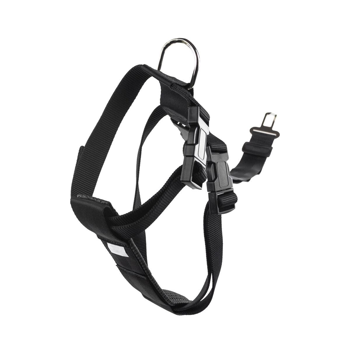 Veiligheidstuig Nylon 25mm Hondentuigje 50x70cm Zwart