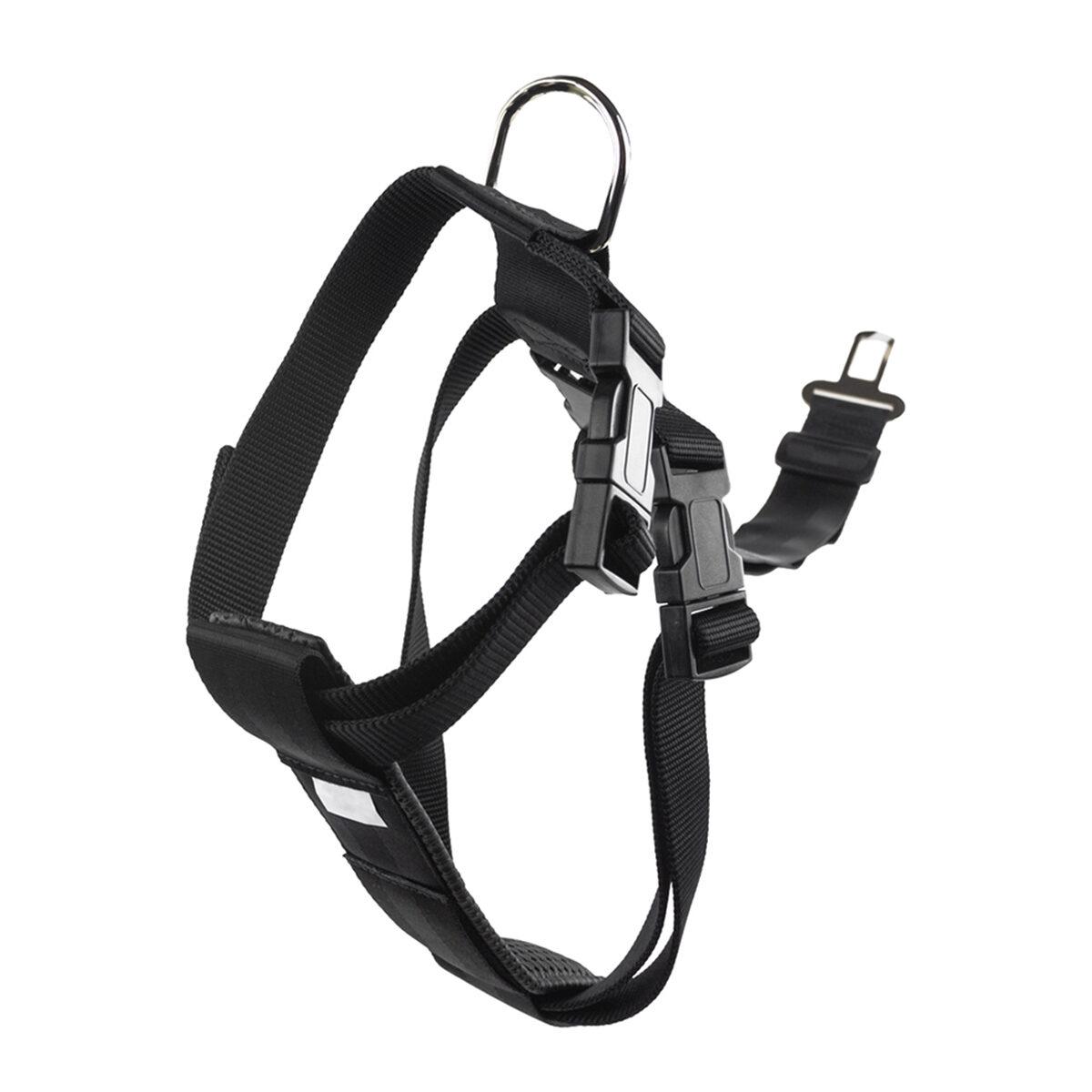 Veiligheidstuig Nylon 25mm Hondentuigje 75x90cm Zwart