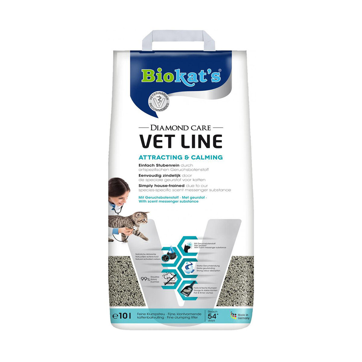 Biokat's Diamond Care Vet Line Attracting & Calmin Kattenbakvulling 10 liter