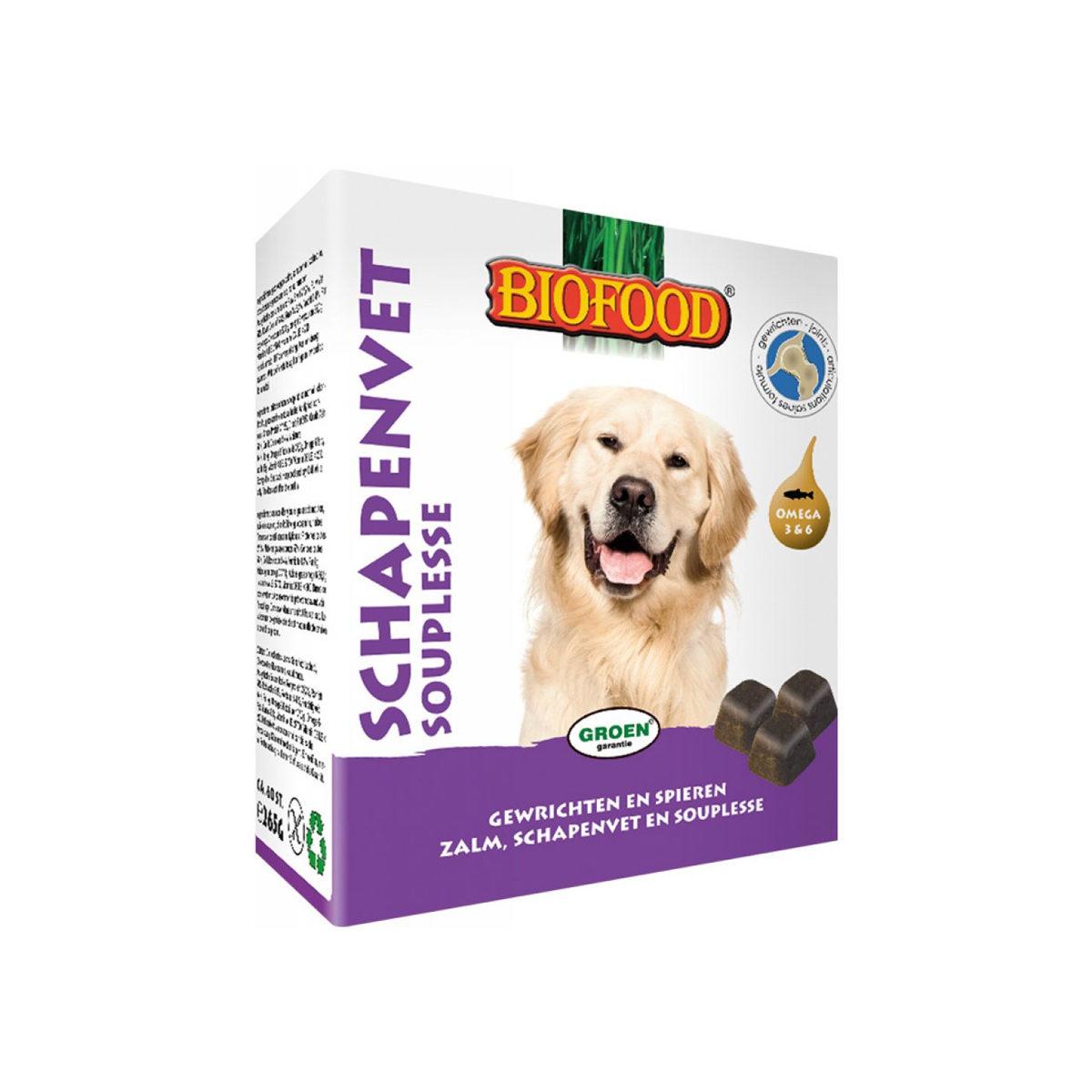 Biofood Schapenvet Maxi Hondensnack Souplesse 40stuks - in Snacks
