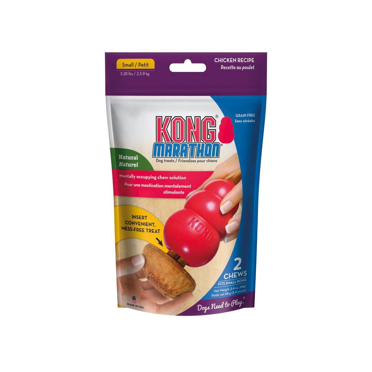 Kong Marathon Hondensnack 2 stuks Kip Small - in Snacks