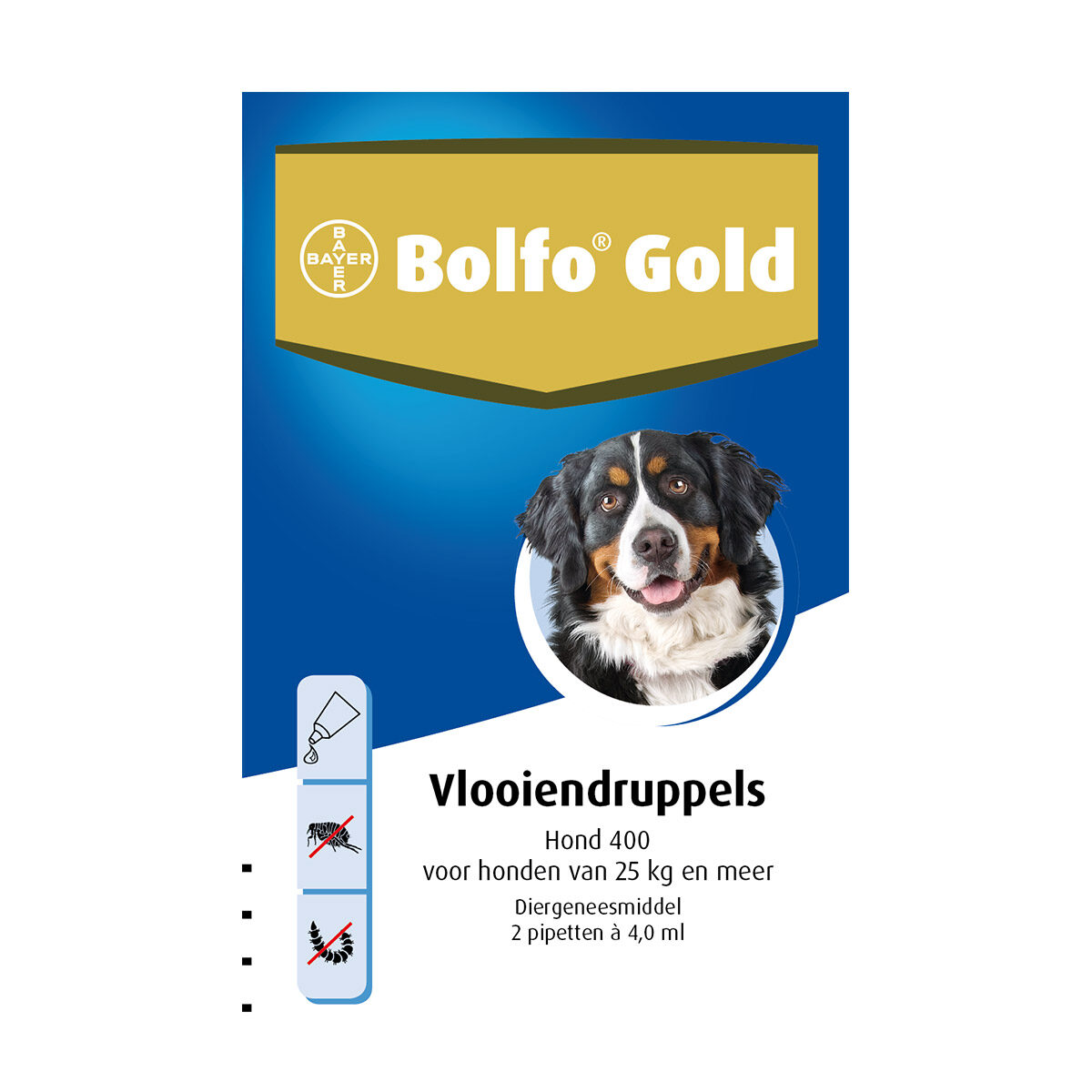 Bolfo Gold Hond 400 Vlooiendruppels 25 tot 40 kg 2 Pipetten