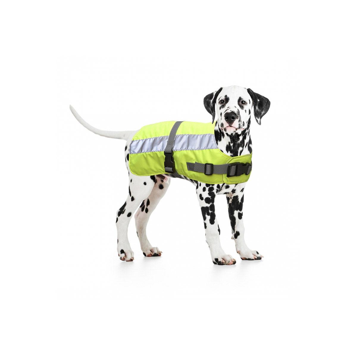 Duvo+ Flectalon Hi Vis Honden Jack Ruglengte 40 cm Geel - in Reflectie & Verlichting