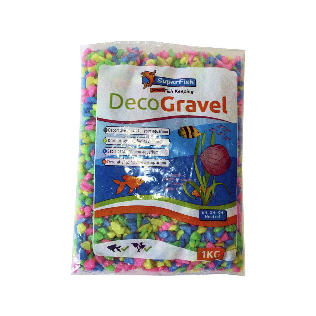 SuperFish Deco Gravel Neon 1kg Mix-kleur - in Decoratie