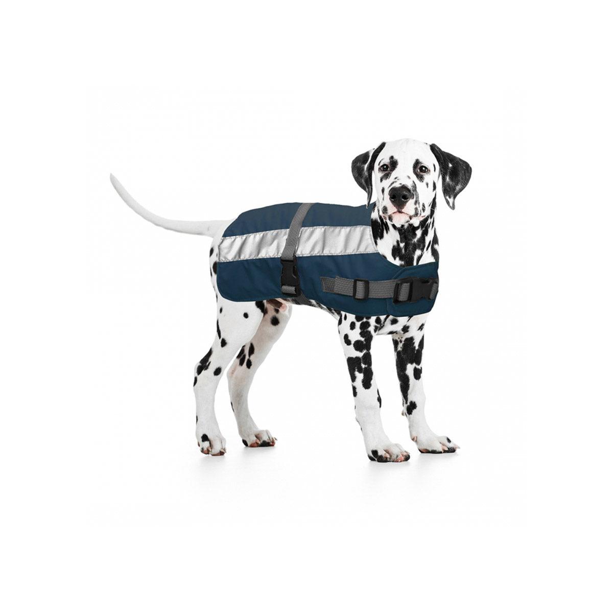 Duvo+ Flectalon Hi Vis Honden Jack Ruglengte 45 cm Blauw - in Reflectie & Verlichting