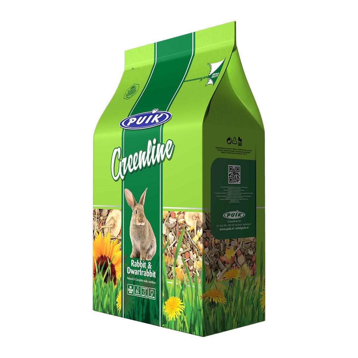 Puik Greenline Konijn & Dwergkonijnvoer 1,5 kg