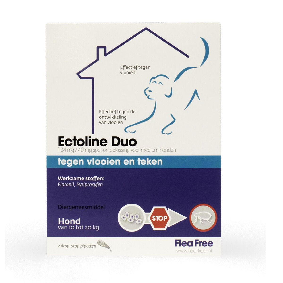 Ectoline Duo Hond 2 Pipetten 10-20 kg