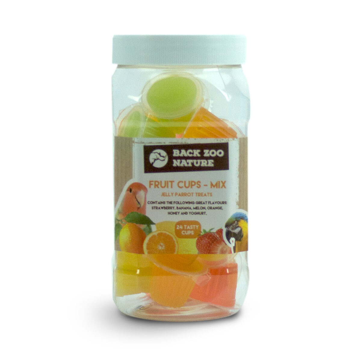 Back Zoo Nature Pot Fruitcups Mix Vogelsnack 24 stuks