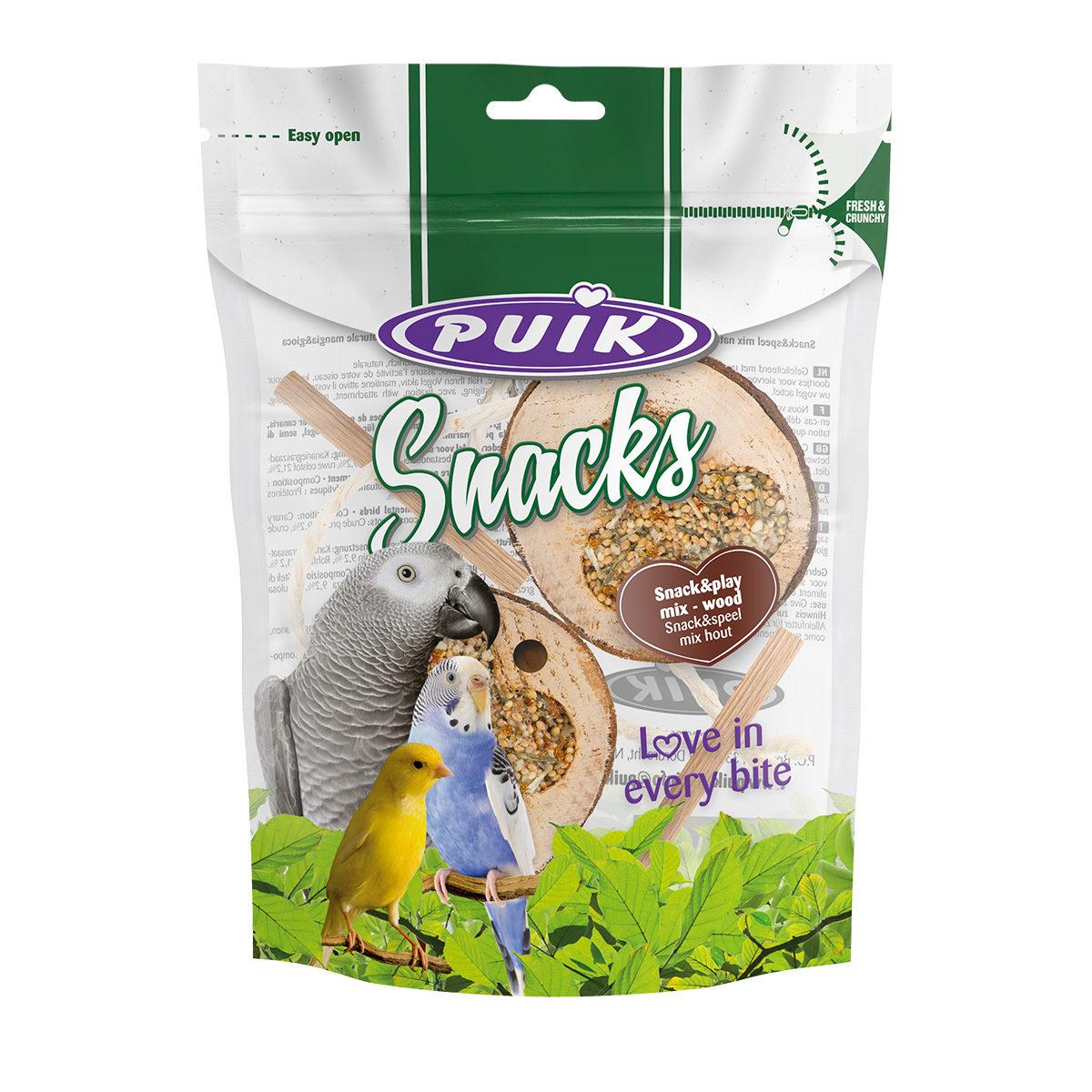 Puik Vogelsnack Snack&Speel Mix Hout 2st
