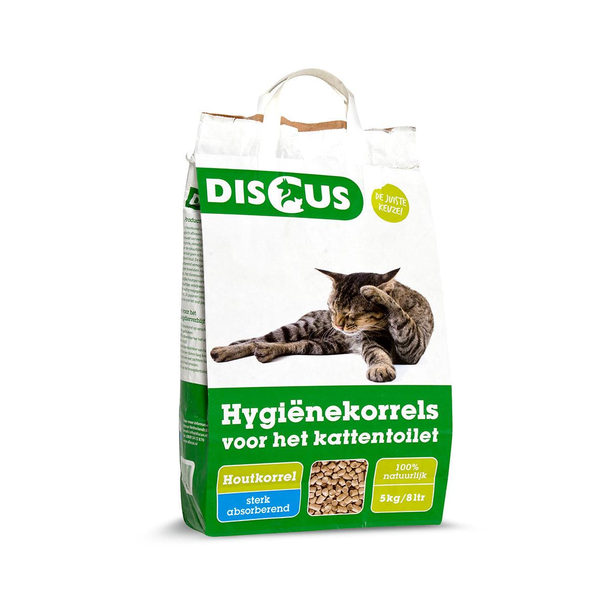 Discus Kattenbakvulling Houtkorrel 8 liter