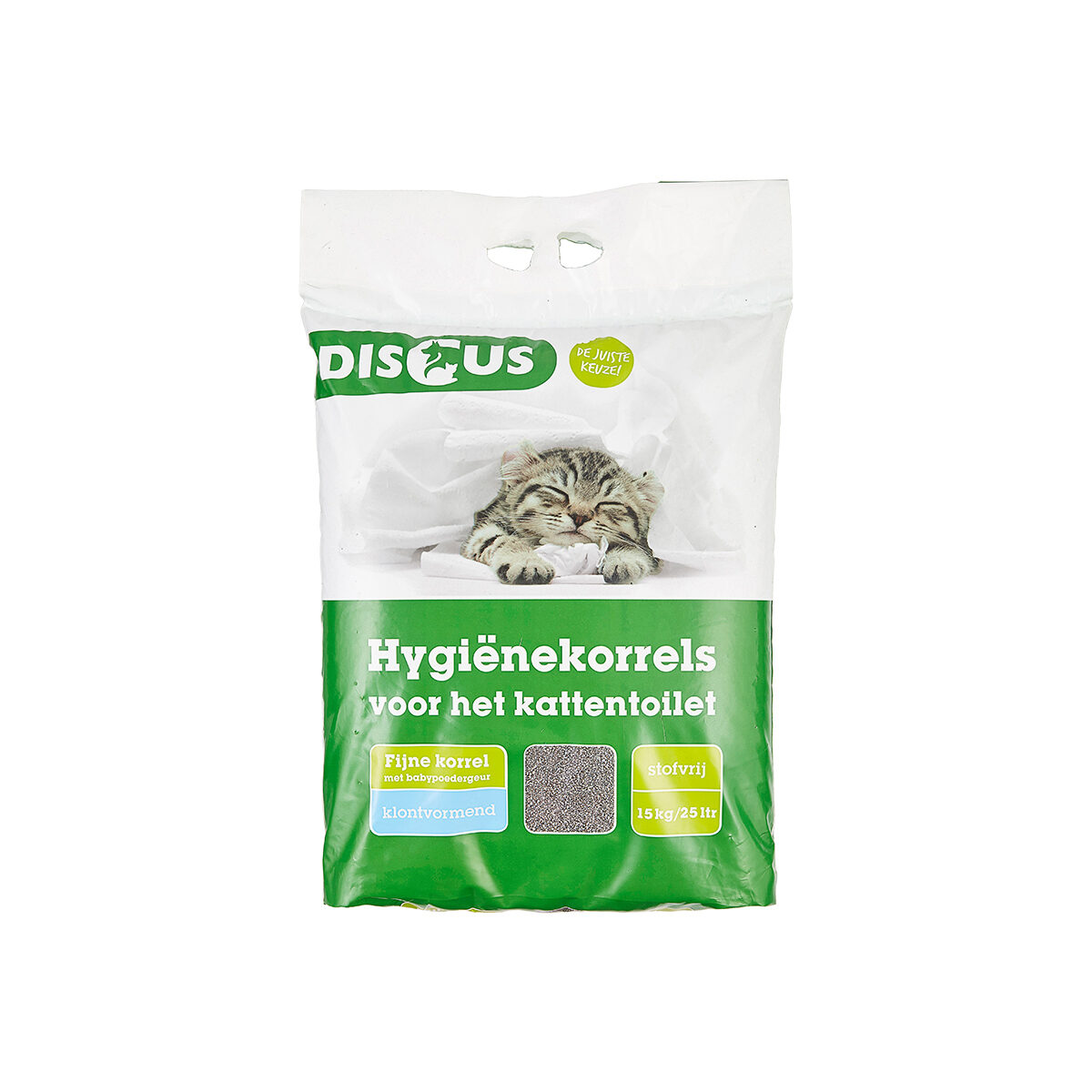Discus Fine Grain Hygiënekorrels Baby-Powder 15kg
