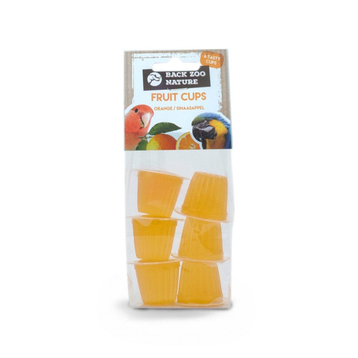 Back Zoo Nature Fruitcup Vogelsnack Zak 6-stuks Orange