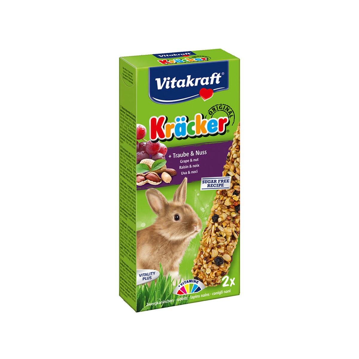 Vitakraft Kräcker Konijnensnack 2-in-1 Druif&Noot