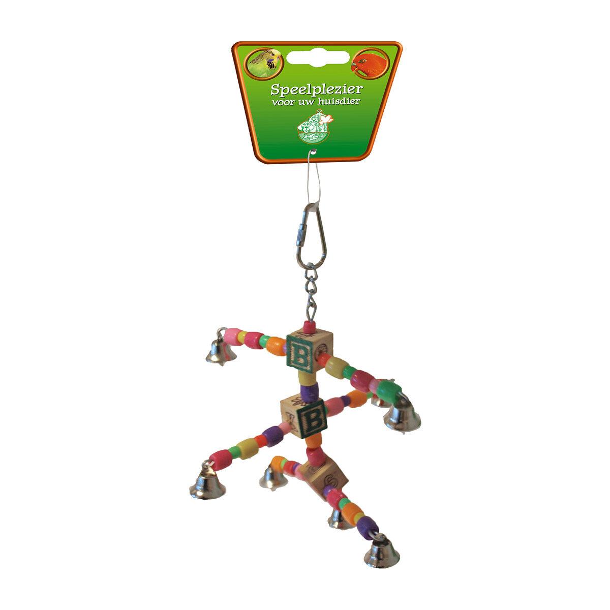 Vogelspeelgoed Triple Arms Met Kraal en Bel 20 cm