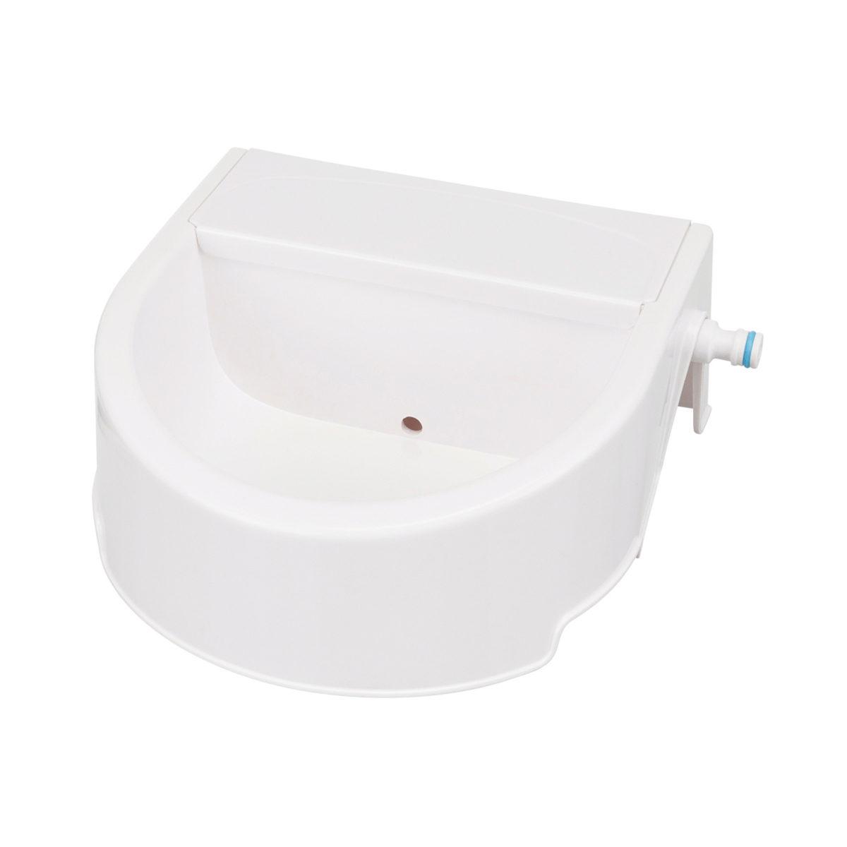 Automatische Outdoor Drinkbak 24x10x23 cm wit