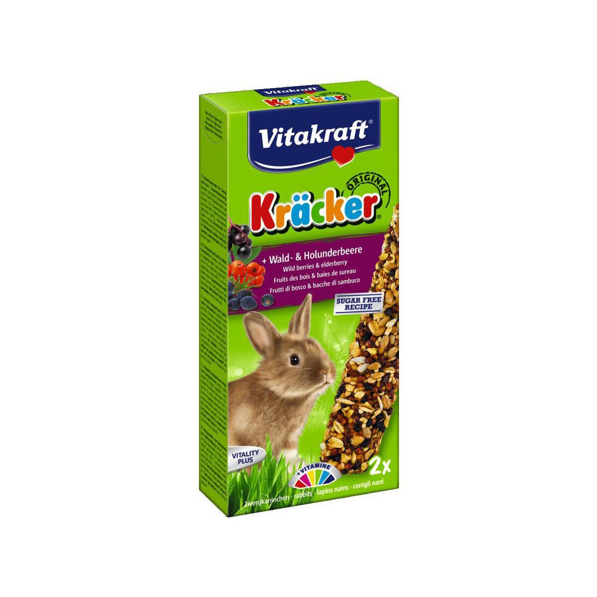 Vitakraft Kracker Konijnensnack Bosbessen 2 stuks