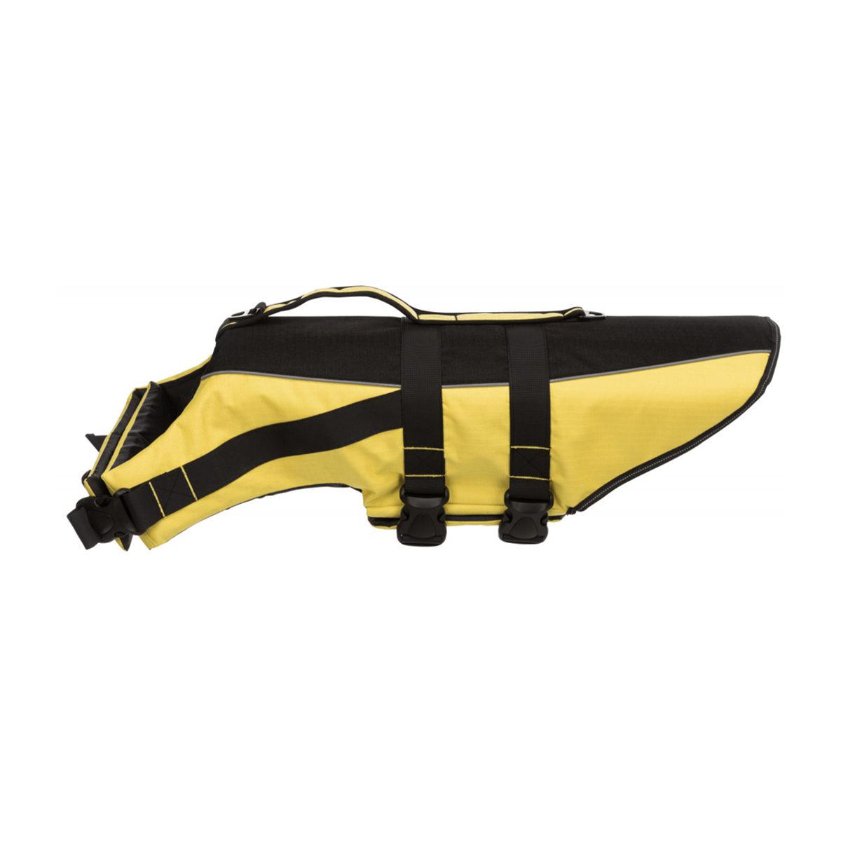Hondenzwemvest L Geel-Zwart