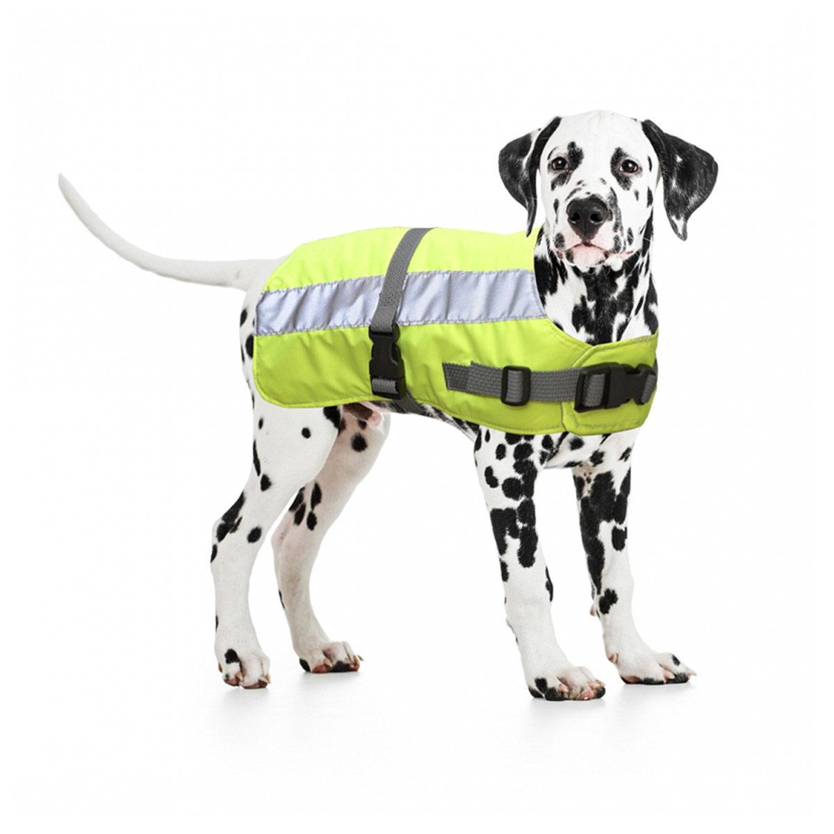 Duvo+ Flectalon Hi Vis Honden Jack Ruglengte 75 cm Geel - in Reflectie & Verlichting