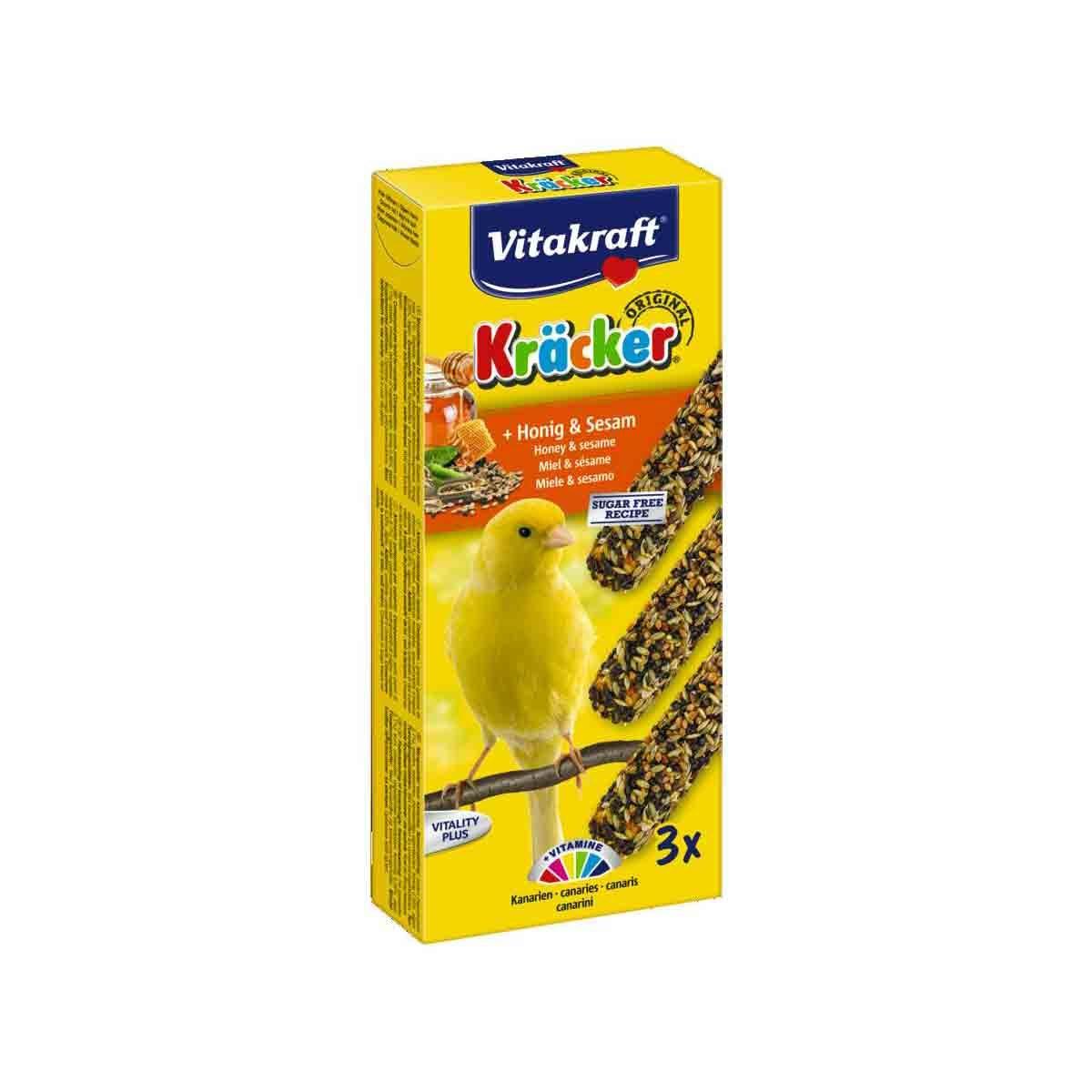 Vitakraft Trio Mix kräcker Vogelsnack Kanarie 3in1 Honing Sesam
