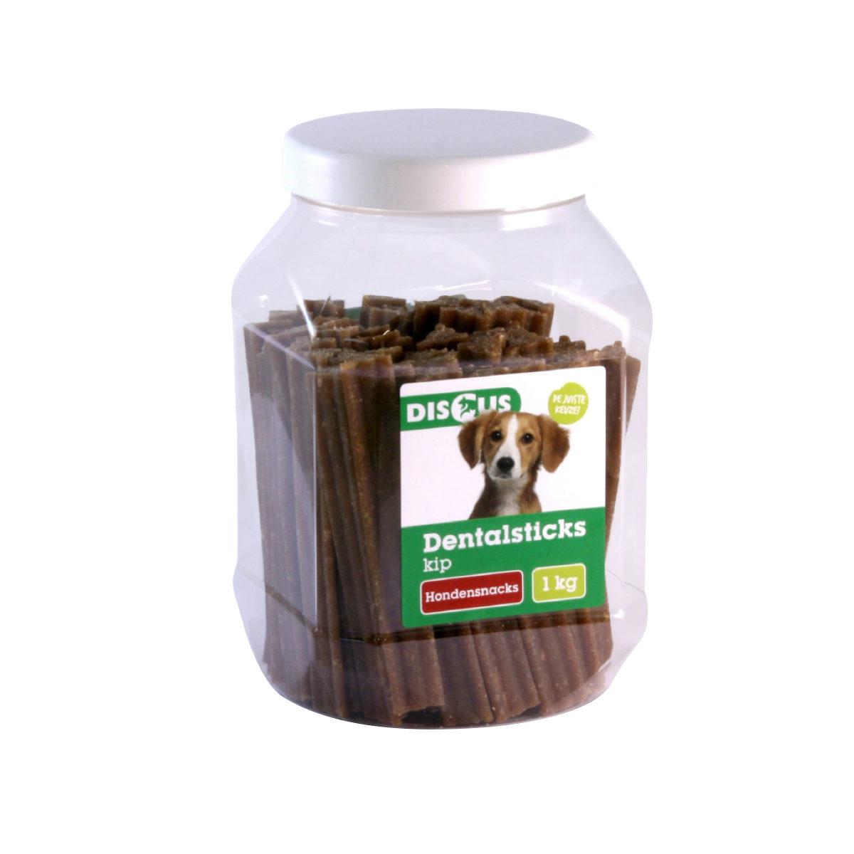 Discus Dentalsticks Hondensnack Kip 1 kg - in Snacks